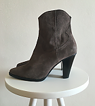 Zara leather boots on heels