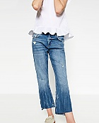 Zara mid-rise bootcut jeans