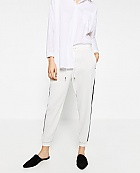 Zara pants with black stripe