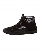 CHANEL Mesh Suede High Top Sneakers