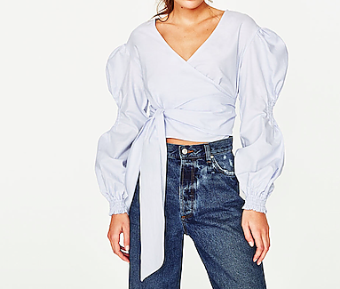ZARA wrap shirt